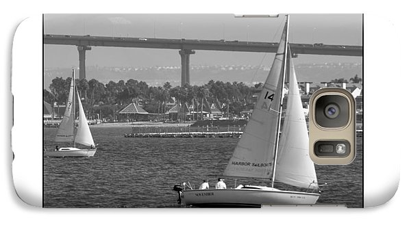 Galaxy Case featuring the digital art San Diego Bay Sailing 1 by Kirt Tisdale