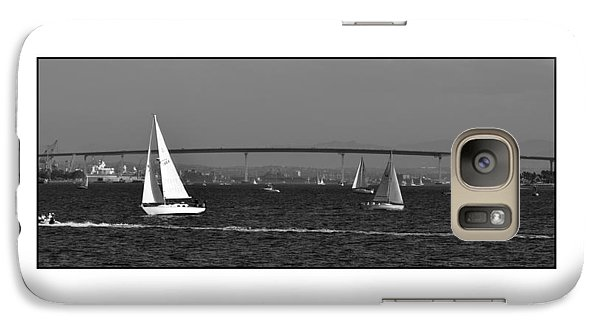 Galaxy Case featuring the digital art San Diego Bay Sailing 2 by Kirt Tisdale