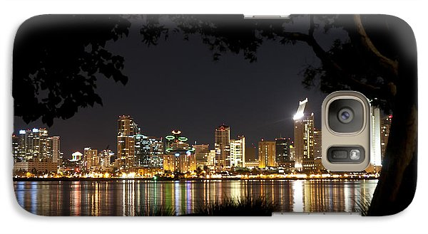 Galaxy Case featuring the photograph San Diego Skyline Framed 1 by Lee Kirchhevel