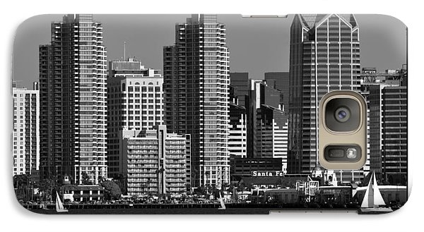 Galaxy Case featuring the digital art San Diego Skyline by Kirt Tisdale