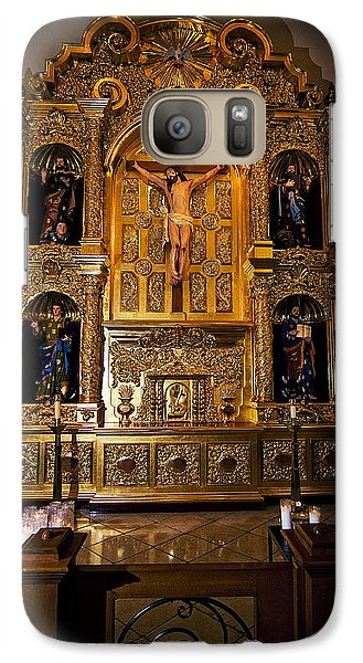 Galaxy Case featuring the photograph San Fernando Cathedral Altar by Andy Crawford