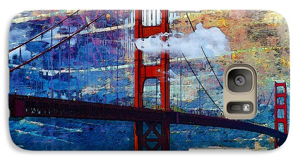 Galaxy Case featuring the painting San Francisco Bridge by Robert Smith