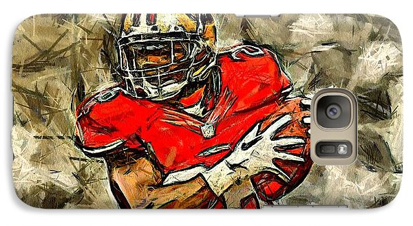 Galaxy Case featuring the digital art San Francisco Football Player by Carrie OBrien Sibley