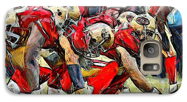 Galaxy Case featuring the digital art San Francisco Offense by Carrie OBrien Sibley