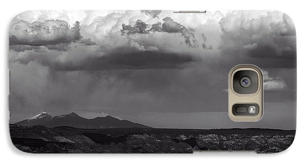 Galaxy Case featuring the photograph San Francisco Peaks Snow Rain And Clouds by Ron Chilston
