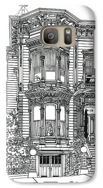 Galaxy Case featuring the drawing San Francisco Victorian   by Ira Shander