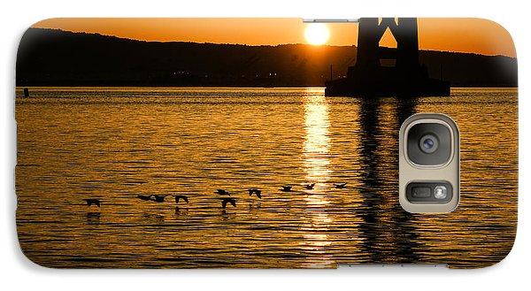 Galaxy Case featuring the photograph San Francisco Bay Bridge Sunrise by Georgia Mizuleva
