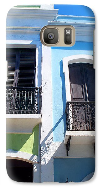 Galaxy Case featuring the photograph San Juan Balconies by Rod Seel