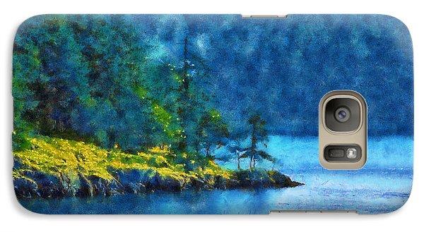 Galaxy Case featuring the digital art San Juan Island Bay by Kaylee Mason