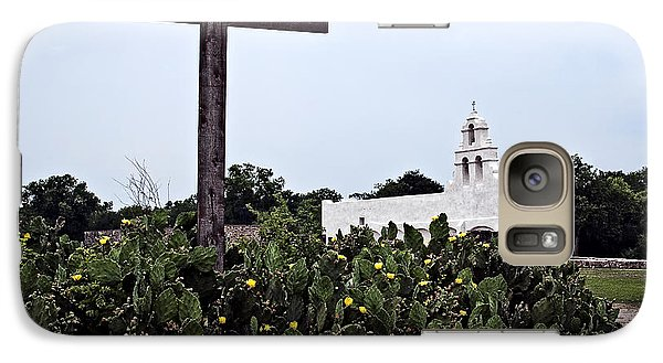 Galaxy Case featuring the photograph San Juan Mission by Andy Crawford