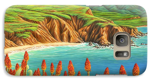 Galaxy Case featuring the painting San Mateo Springtime by Jane Girardot