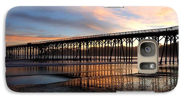 Galaxy Case featuring the photograph San Simeon Pier by Vivian Christopher