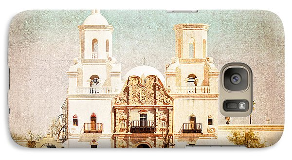 Galaxy Case featuring the photograph San Xavier Del Bac Mission by Marianne Jensen