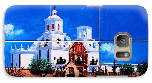 Galaxy Case featuring the ceramic art San Xavier Mission Tile Mural by M Diane Bonaparte