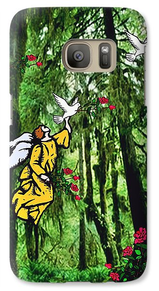 Galaxy Case featuring the digital art Sanctuary by Mary Anne Ritchie