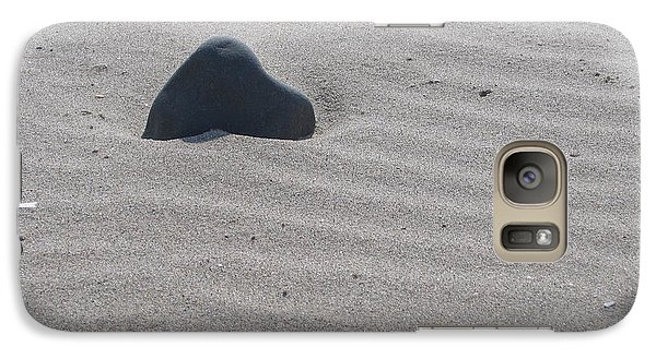 Galaxy Case featuring the photograph Sand And Rock by Martin Blakeley