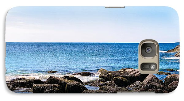 Galaxy Case featuring the photograph Sand Beach Rocky Shore   by Lars Lentz