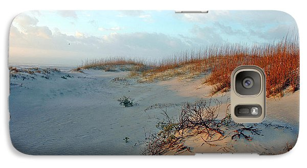 Galaxy Case featuring the photograph Sand Dune On Tybee Island by Allen Carroll