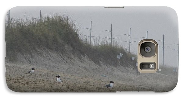 Galaxy Case featuring the photograph Sand Dunes And Seagulls by Cathy Lindsey