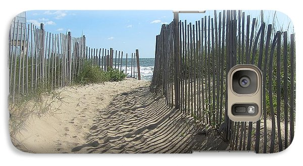 Galaxy Case featuring the photograph Sand Fence At Southern Shores  by Cathy Lindsey