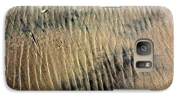 Galaxy Case featuring the photograph Sand Tracks by Irma BACKELANT GALLERIES
