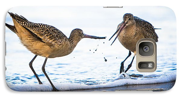 Galaxy Case featuring the photograph Sanderlings Playing At The Beach by John Wadleigh