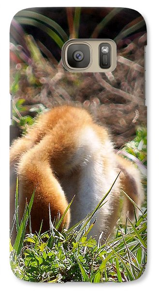 Galaxy Case featuring the photograph Sandhill Chick 008 by Chris Mercer