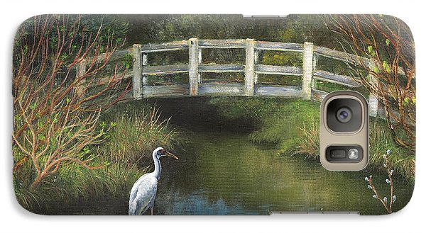 Galaxy Case featuring the painting Sandhill Crane At Spring Creek by Jeanette French