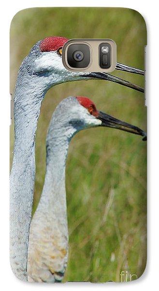 Galaxy Case featuring the photograph Sandhill Crane Portraits W-grub by Lynda Dawson-Youngclaus