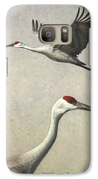 Sandhill Cranes Galaxy S7 Case by James W Johnson