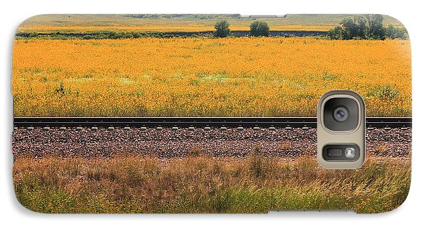 Galaxy Case featuring the photograph Sandhill Sunflowers by Alicia Knust