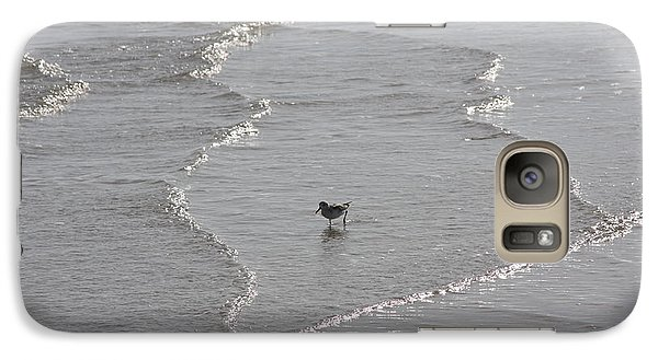 Galaxy Case featuring the photograph Sandpiper In Water by Jerry Bunger