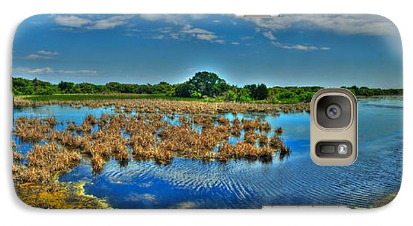 Galaxy Case featuring the photograph Sandpiper Pond Panorama by Ed Roberts