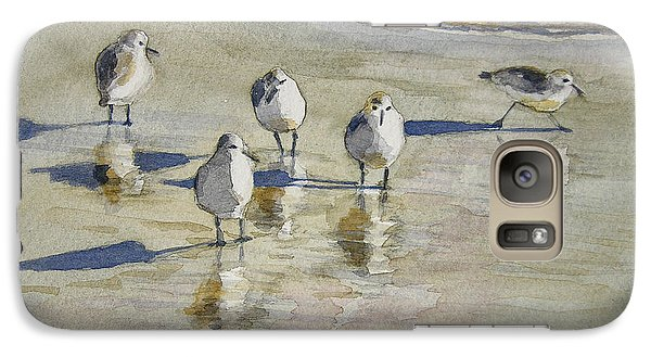 Sandpipers 2 Watercolor 5-13-12 Julianne Felton Galaxy S7 Case