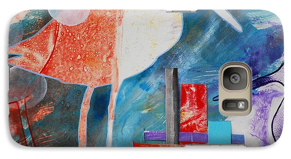 Galaxy Case featuring the digital art Sandpipers On The Shore by Cynthia Lagoudakis