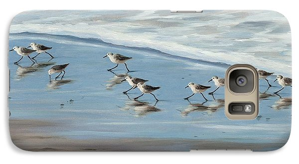 Sandpipers Galaxy Case by Tina Obrien