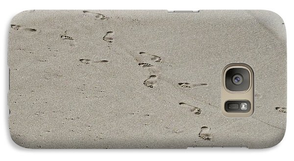Galaxy Case featuring the photograph Sandprints by Philomena Zito