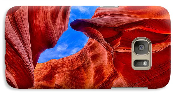 Galaxy Case featuring the photograph Sandstone Curves In Antelope Canyon by Greg Norrell