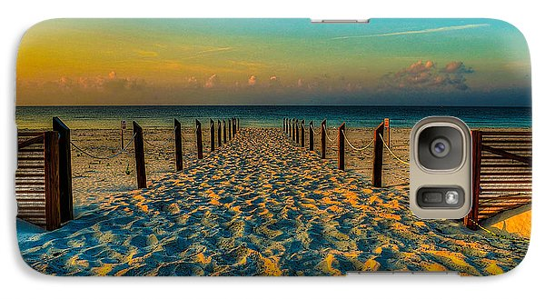 Galaxy Case featuring the photograph Sandy Beach by Maddalena McDonald