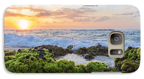 Galaxy Case featuring the photograph Sandy Beach Sunrise 2 by Leigh Anne Meeks