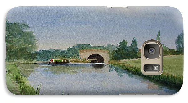 Galaxy Case featuring the painting Sandy Bridge by Martin Howard