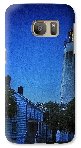 Galaxy Case featuring the photograph Sandy Hook Lighthouse At Twilight by Debra Fedchin