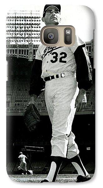 Sandy Koufax Vintage Baseball Poster Galaxy S7 Case