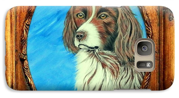 Galaxy Case featuring the painting Sandy.english Springer Spaniel by Fram Cama
