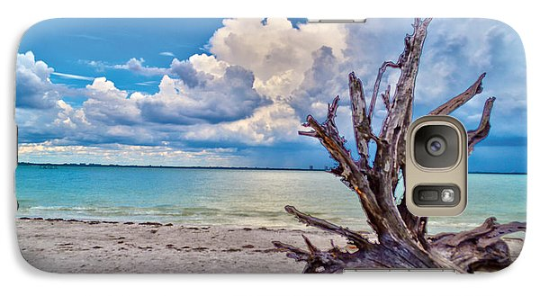 Galaxy Case featuring the photograph Sanibel Island Driftwood by Timothy Lowry