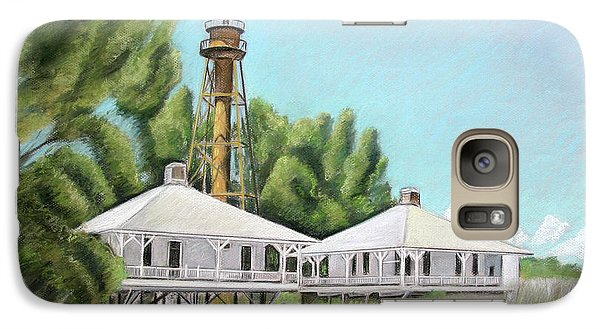 Galaxy Case featuring the painting Sanibel Lighthouse by Melinda Saminski