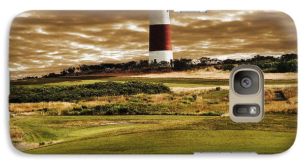 Galaxy Case featuring the photograph Sankaty Head Lighthouse In Nantucket by Mitchell R Grosky