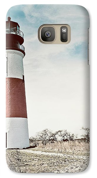 Galaxy Case featuring the photograph Sankaty Head Lighthouse Nantucket  by Marianne Campolongo