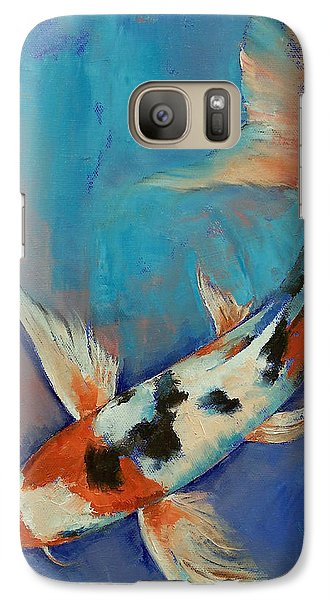 Sanke Butterfly Koi Galaxy S7 Case by Michael Creese