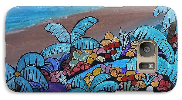 Galaxy Case featuring the painting Santa Barbara Beach by Barbara St Jean